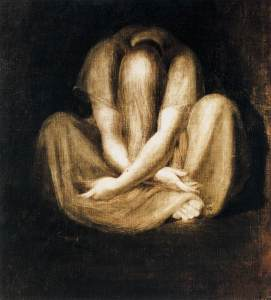 Johann Heinrich Fussli - Silence (1799-1801)