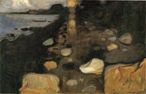 Edvard Munch - Clair de lune sur la cote (1892)