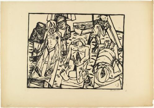 Max Beckmann - Morgue (Totenhaus) 1922