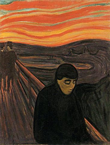 POESIE ET TEXTES DIVERS - Page 6 Munch-despair-1893-4