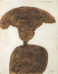Jean Dubuffet, Portrait d'Antonin Artaud cheveux epanouis (1946)