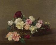 Henri Fantin-Latour - A Basket of Roses (1890)