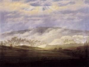 Caspar David Friedrich - Fog in the Elbe Valley (1821)