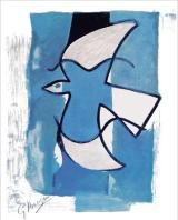 Georges Braque - The Blue and Grey Bird (1962)