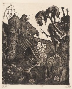 Otto Dix - Collapsed Trenches (1924)