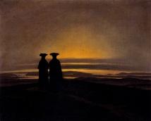 Caspar David Friedrich - Deux hommes au crépuscule (1835)