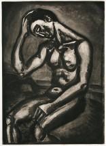 Georges Rouault  - Solitaire, en cette vie d'embûches et de malices (from Miserere), 1922