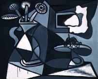 Pablo Picasso - Vase de fleurs et compotier (1943)